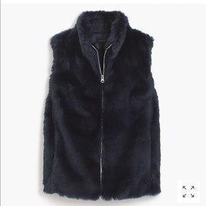 NWOT J.Crew Faux Fur Vest
